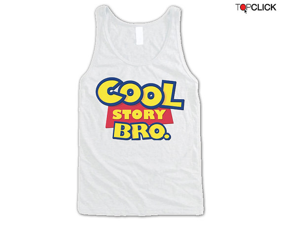 Cool story bro tank top summer trends by topclick on etsy
