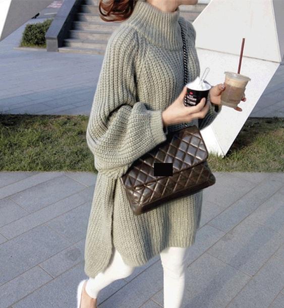 sweater girly knitwear knit knitted sweater oversized sweater oversized sweater dress