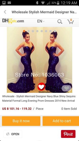 dress navy blue dress blue sequin dress formal dress long strapless dress