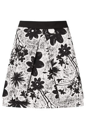 Flower Fold Aline Skirt - Skirts  - Clothing  - Topshop USA