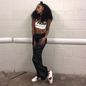 top pants leigh-anne pinnock instagram crop tops ivy park