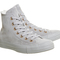 Converse all star hi leather ash grey rose gold exclusive - hers trainers