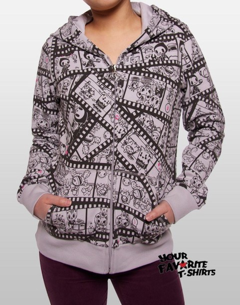 sweater jacket tape film movie cartoon cute girly pretty s'cute