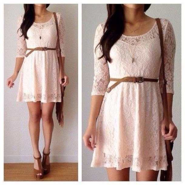 Dress Lace Vintage Shoes Pastel Pink Pastel Pink