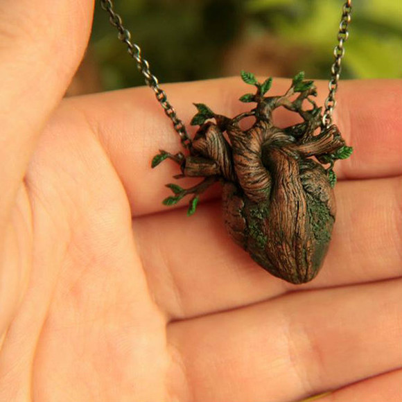 necklace wood jewels heart tree nature earth mother nature mother earth roots heart necklace necklace bag tree necklace