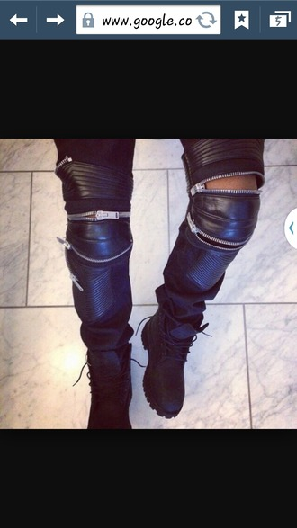 pants black pants zipper pants kanye west yeezus