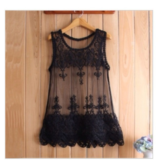 Shirt Lace Black T Fashion Clothes Tumblr Girl Girly Vintage Summer Top