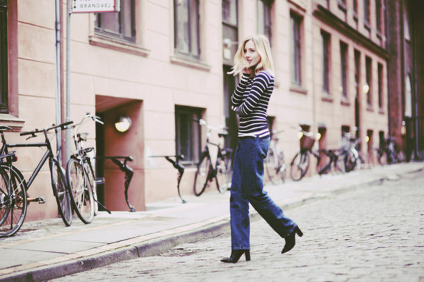 framboise fashion blogger jeans striped sweater