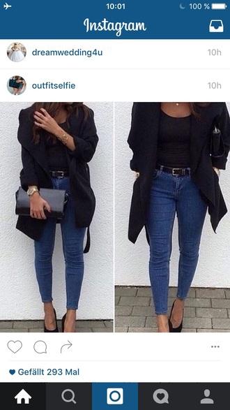 jacket mode blazer black casual