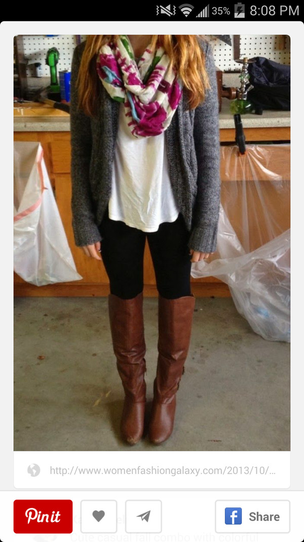 fall outfits back to school infinity scarf boots leggings comfortable outfit warm shoes scarf sweater