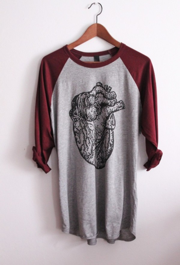 shirt tumbr red grey heart cute boy girl skateboard skater skater girl hipster wishlist t-shirt grey dark brigh draw amazing fantastic science cintre classy grunge indie alternative rock clothes weheartit