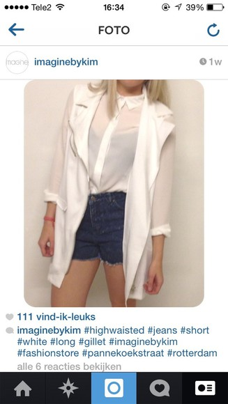 white white blazer blazer coat long
