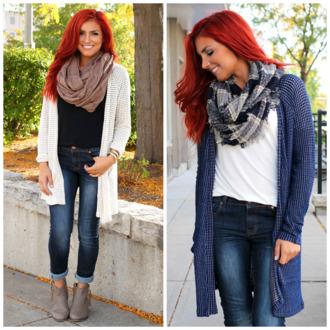 pockets cardigan navy knitwear ivory