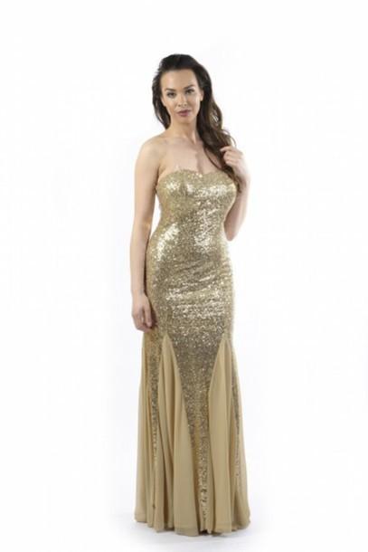 dress, sequins, sequins, gold sequins, sequin dress, sweetheart ...