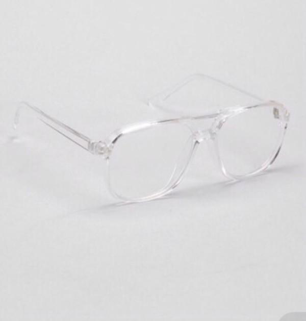 Clear Frame Glasses Vintage : Sunglasses: transparent vintage retro 80s square frame ...