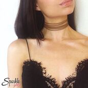 jewels,sparkle and glitz,brown choker,choker necklace
