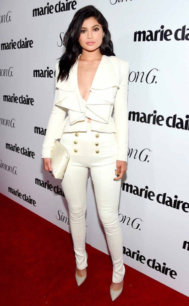 blouse marie clarie kylie jenner white