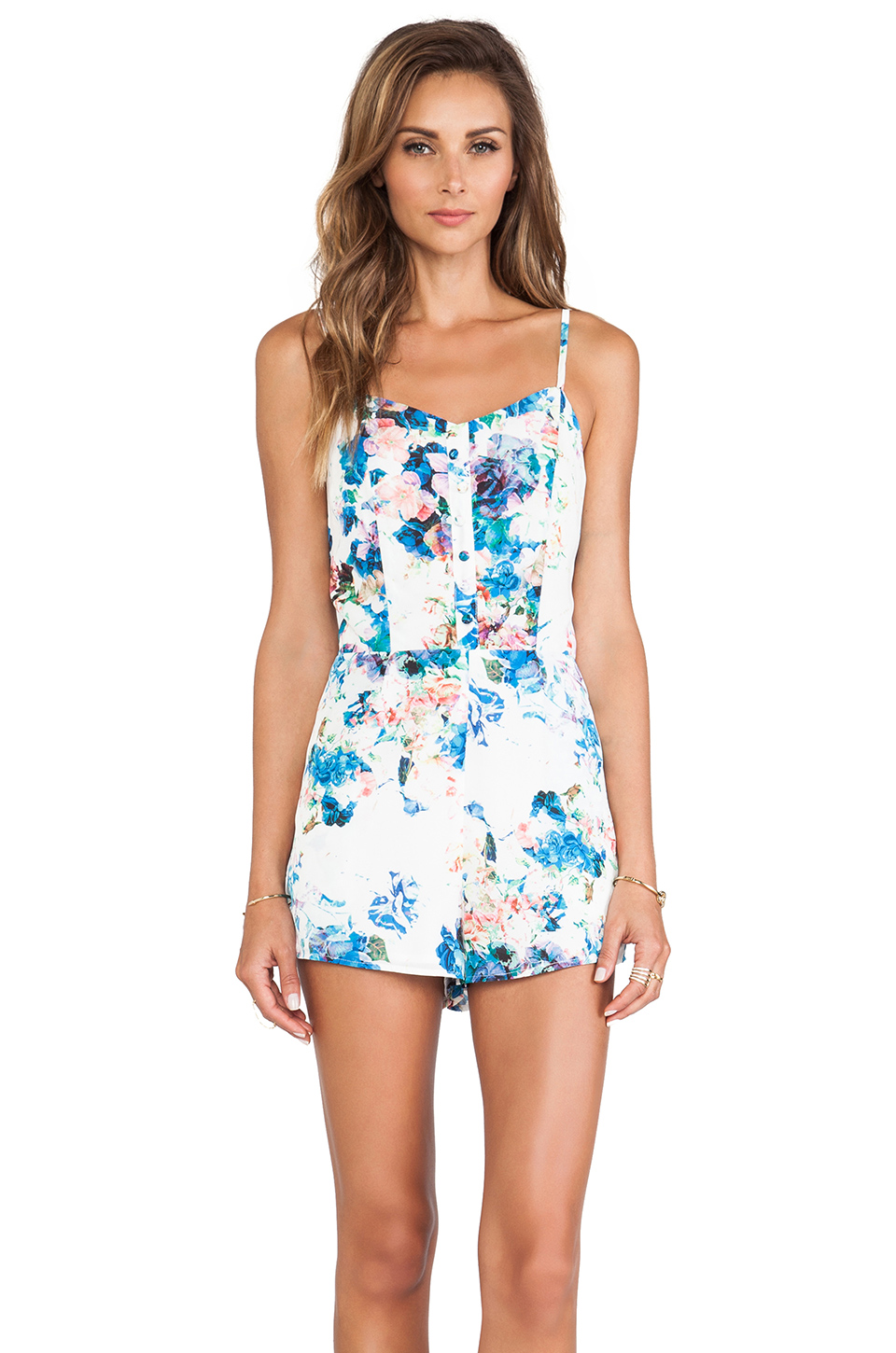 Lovers   Friends Escape Romper in Blue Floral from REVOLVEclothing.com