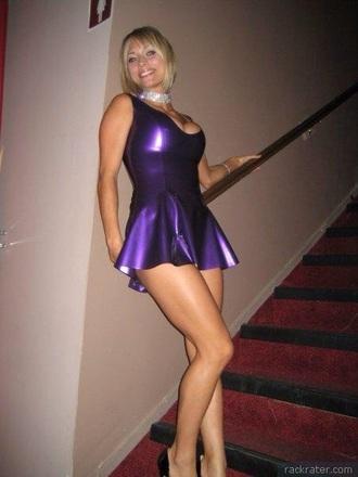 dress purple latex sexy fetish mini dress