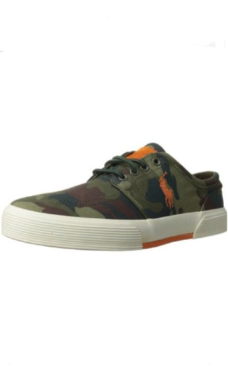 shoes camouflage orange polo mens shoes