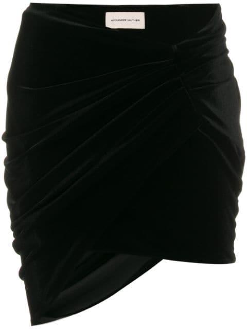 Alexandre Vauthier Velvet Mini Skirt - Farfetch