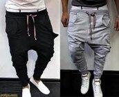 pants,pantalons,sportswear,gris,noir,swag,mec,mens pants,black,guys,justin bieber pants