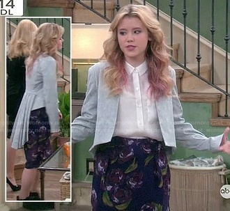 jacket pleated cropped series melissa & joey blazer clothes