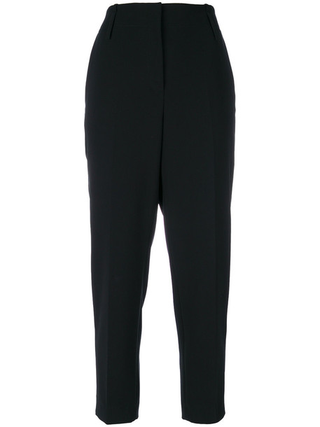 Luisa Cerano high waisted cropped high women black pants