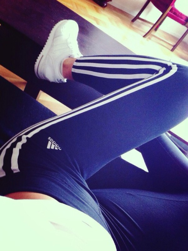 jeans blue white adidas