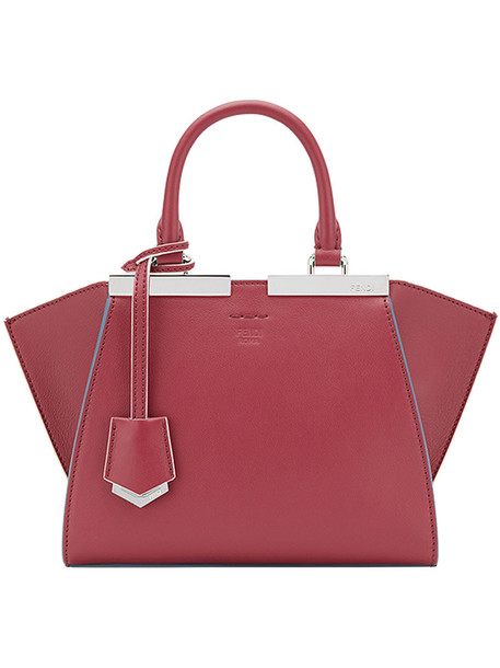 Fendi mini women leather red bag