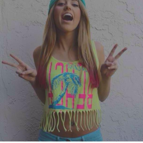 t-shirt lycia faith fluor cool cute swag summer blonde hair
