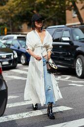 shoes,boots,black boots,jeansd,denim,jeans,top,hat,sunglasses,kimono