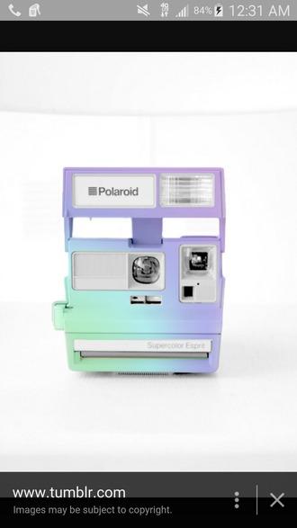 home accessory polaroid camera pastel