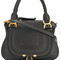 Chloé - marcie tote bag - women - leather/brass - one size, black, leather/brass