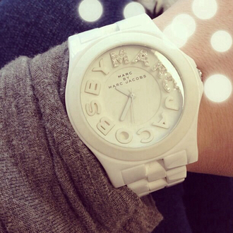 jewels watch marc jacobs marc by marc jacobs white sparkle