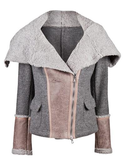 Benedetta novi asymmetrical shearling jacket
