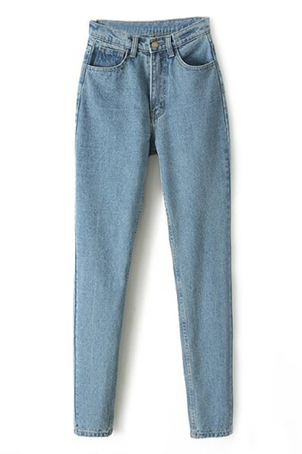 ROMWE | High-waisted Casual Skinny Jeans, The Latest Street Fashion