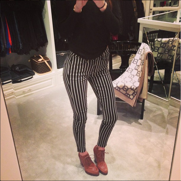 pants celebrity striped leggings