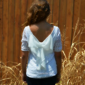 top,ivory bow back,ivory top,bow back top,crochet,fall outfits,trendy