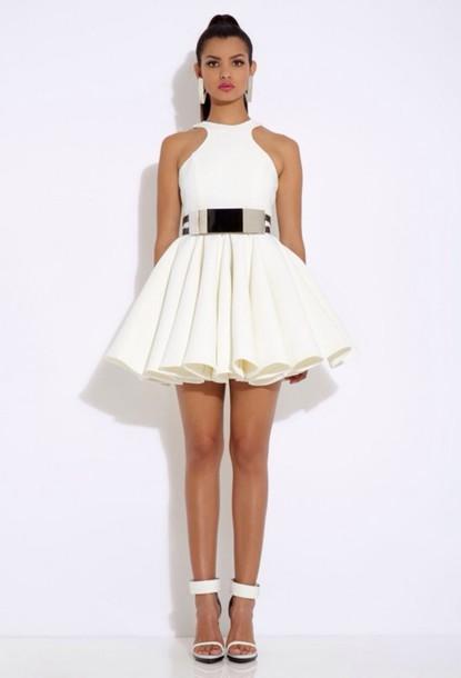 dress cream mini dress