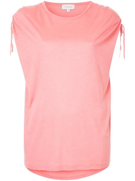Ck Calvin Klein t-shirt shirt t-shirt women purple pink top