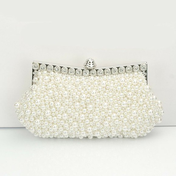 pearls bag beaded bag prom bag wedding clutch handbag,shoulder bag, branded bag, chanle style bag,purse clutch handbag clear,perfum,bag,evening,clutch,handbag. bridal bag bridesmaid clutch
