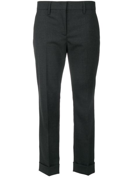 Prada cropped women spandex wool grey pants