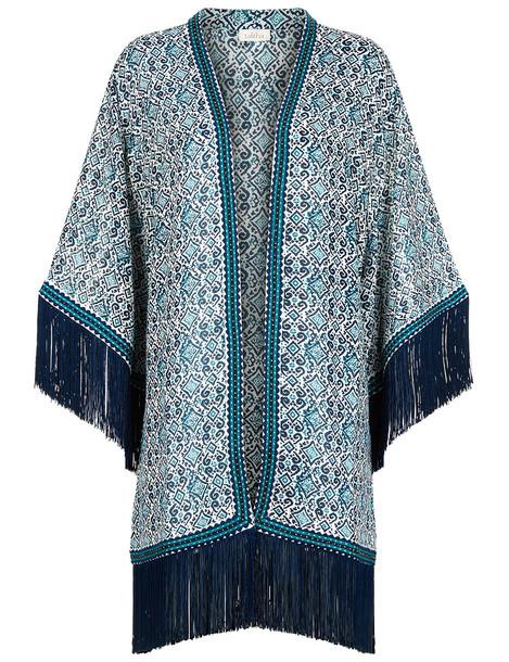 Talitha kimono aztec teal blue