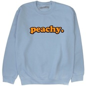 sweater,blue sweater,peachy sweater,peachy,blue