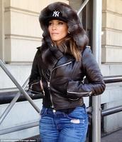 jacket,jennifer lopez,jenniferlopez,fur,fur jacket,fur hood,fur trim hood,fur scarf,fur hat,fax fur,scarf,jlo jacket
