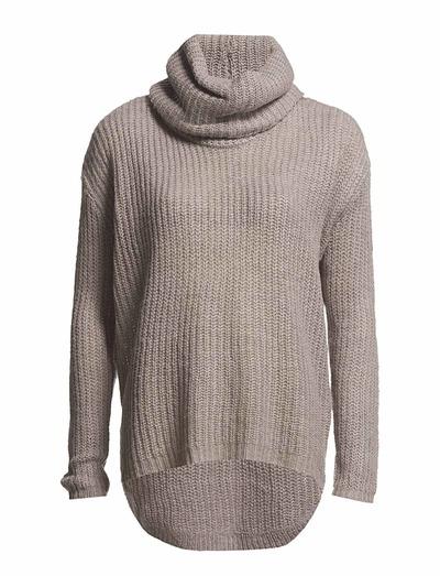 Vero Moda Jutta Ls Rollneck (Light Grey Melange) - Køb og shop online hos Boozt.com