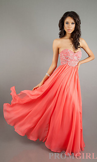 Strapless Evening Gown, Sherri Hill Strapless Prom Dress-PromGirl