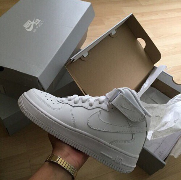 separation shoes 45ae4 29619 shoes trainers white nike nike shoes boots watch gold gold watch nike air  force 1 white