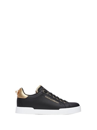 sneakers. sneakers gold leather black black and gold shoes